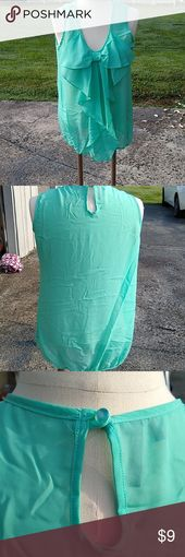 Bow blouse Beautiful seafoam green blouse tank top with a bow on the front.  #ru… – My Posh Picks
