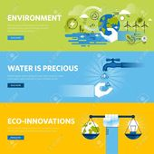 Set of flat line design web banners for environment, renewable energy, green tec… – TopGun Design – #Banners #Design #energy #Environment #flat