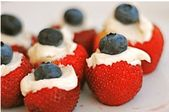 Red, White and Blue Stuffed Strawberries Recipes