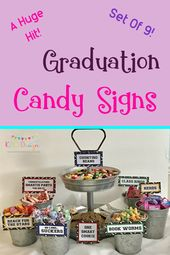 Graduation Candy Signs, set of 9