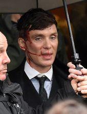 Cillian Murphy on the set of Peaky Blinders 💙