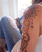 Henna Tattoo selber machen – Tipps zum Auftragen & 35 tolle Designs #tattoohan…