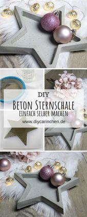 DIY Betonschale Stern in wenigen Schritten selber machen – Weihnachten – Alle DIYs von DIYCarinchen