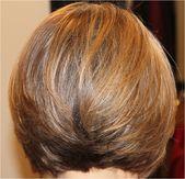 Bob-Haarschnitte von hinten und von vorne