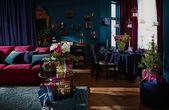 GRÖNLID 3er-Sofa – Ljungen dunkelrot