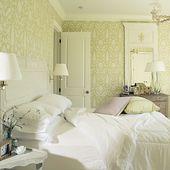 Bright, Monochromatic Bedroom   – Home