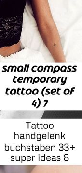 Small compass temporary tattoo (set of 4) 7