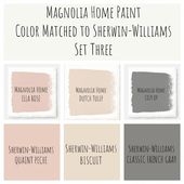 Joanna Gaines Magnolia Home paint color matched to…