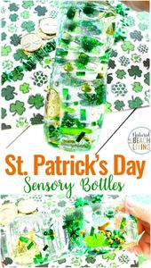 Easy St. Patrick's Day Sensory Bottles – DIY Sensory Activities – Natural Beach Living