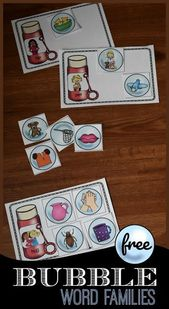 Bubble Word Families – this free activity for word families to express … – Best Family Ideen