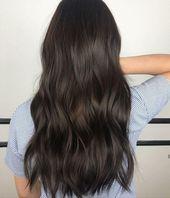 25 besten Beispiele für warme schwarze Haarfarben, die Sie finden können #brownhaircolors Long warm h …  – Kuls