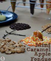 Mini-Karamell-Apfel-Fondue :: HoosierHomemade.com   – fondue