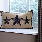 Sturbridge Patch Black Pillow adds country flair to any primitive or farmhouse d…   – Eclectic and Rustic Home Decor