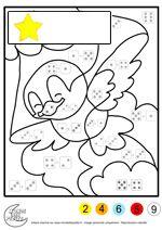 coloriage magique addition pour les maternelles - Coloriage Magic