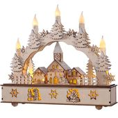 Photo of Das saisonale Gang Candle Arch Winter Village | Wayfair.de