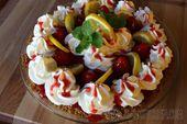 Cream Cheese Pie with Fresh Strawberry Glaze — hand-made Nabisco graham crust, …
