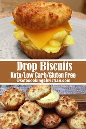 Drop Biscuits – Keto, Low Carb & Gluten Free  Looking for something to satisfy y…
