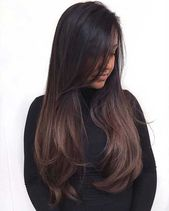 Dunkelbraune lange Frisuren Frauen – Hair / Haare