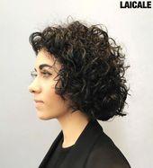 Curly Bob Hairstyle #mediumwavyhairstyles #curlyhairtypes – curly hair types