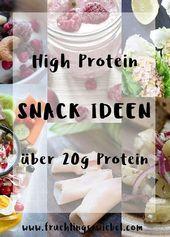 16 Snackideen mit mehr als 20g Eiweiß – proteinreiche Snacks   – Low Carb