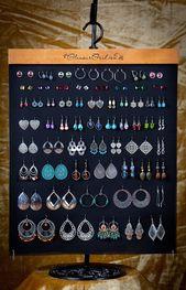 Hanging earring organizer   Etsy