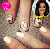 Khloe Kardashian's Geometric Nails: Hot Or Not: Vote