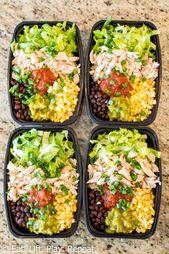 No-Cook Meal Prep Burrito Bowls