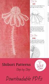 Shibori-Muster – Helenium-Blume
