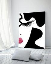 Make-up-Print, Mode, Make-up, Drucken Wimpern Druck, digital Druck, Druck, Eitelkeit Druck, Make-up machen Kunstdrucke, Schönheit, Make-up-Dekor