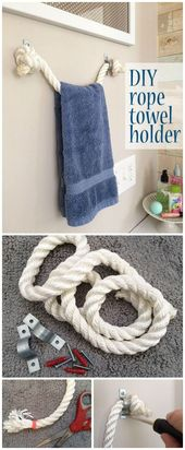DIY Rope Towel Holder – 200 Cheap And Easy Dollar …