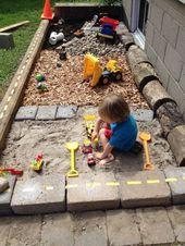 Süße Idee für den Garten l Spielplatz l Sandkasten l Basteln mit dem Kind – Hinterhof Garten