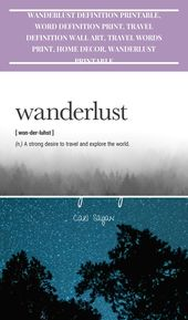 Wanderlust Definition – A strong desire to travel and explore the world.    Prin… – tattoo-girl-cute
