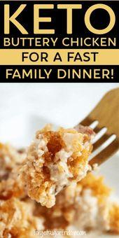 ¿Buscas una cena keto rápida? ¡Prueba esta receta de cazuela! Keto Buttery Chicken …