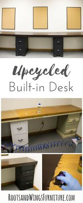 How to build a DIY Built-in Desk for Under $75 –  #build #built #BuiltIn #Desk #DIY #under