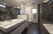 12 Modernes graues Badezimmer, das stilvollste und süßeste   – Bathroom Optimization Include Decor and Storage ideas
