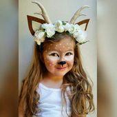 Ähnliche Titel wie Hirschblumenkrone ** Waldtier Faun Fawn Floral Headpiece – Tiere Basteln