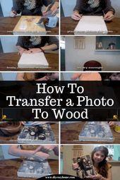 So übertragen Sie ein Foto auf Holz