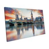 Mercury Row Canvas Print Sunset London Big Ben Houses of Parliament | Wayfair.de