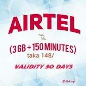 Airtel Recharge Offer Airtel Recharge Offer Taka 148 Sim Get A Great Offer You Can Get 3 Gb 150 Minutes 148 This Offer Is E Messages Recharge Sims