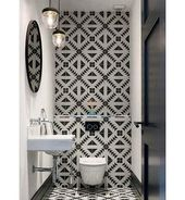 Small powder rooms allow for the most creativty Vi…