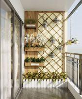 Balkon in der skandinavischen Wohnung #Wohnung #Balkon #skandinavisch