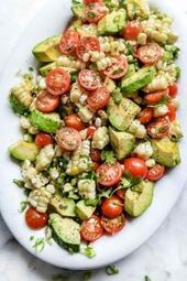 Tomato Avocado Grilled Corn Salad recipe | The Feedfeed