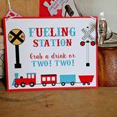 Train Birthday Party Decorations: DIY Decor