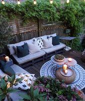 Lassen Sie sich bei der Gestaltung Ihres Hauses von diesen Ideen inspirieren! # Draußen … – Garten   – Wohnung balkon garten