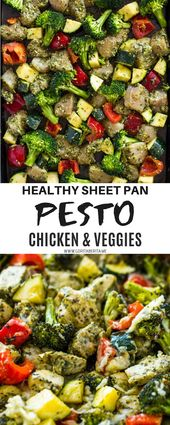 HEALTHY PESTO CHICKEN AND VEGGIES (20 MINUTE SHEET PAN) – WETRI ZAHRA KITCHEN   …