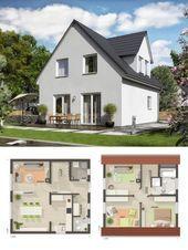 Einfamilienhaus, Neubau modern mit Satteldacharchitektur, Dachgaube und Putzfassade …   – Anbau Ideen