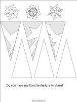 Make your own virtual snowflake  Cut out polygons from the