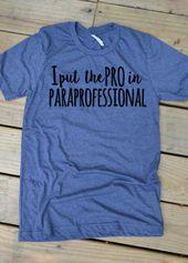 Particular Training Trainer Shirt, Particular Training Paraprofessional Shirt,  Particular Ed Parapro, SPED Para Shirt