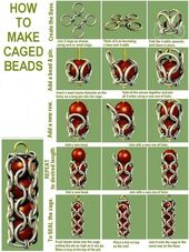 How to Make Cage Beads, jewelry DIY  tech.beads.us/…  This is too cool~ If I h… –  #beads…