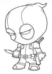 Deadpool Simple Coloring Pages Coloring Deadpool Pages Simple Coole Cartoons Ausmalbilder Zeichnungen